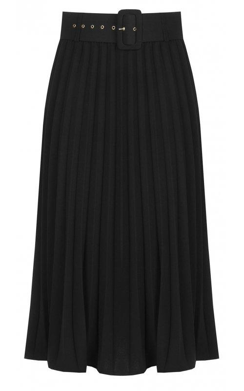 Черная юбка с поясом RINASCIMENTO 93898