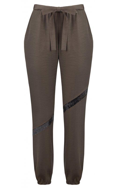 Зауженные брюки с декором в виде страз и банта RINASCIMENTO 93983