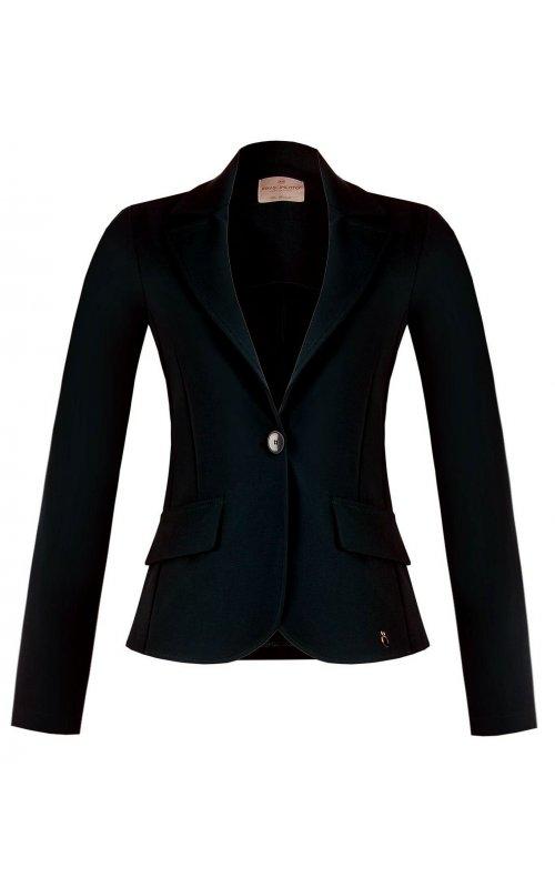 Черный однобортный пиджак RINASCIMENTO 94417