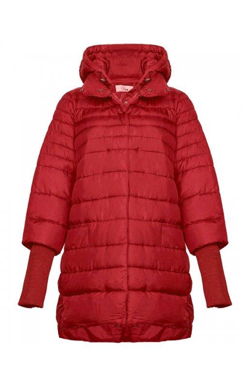 Красная куртка с вязанными манжетами FLY F 1828