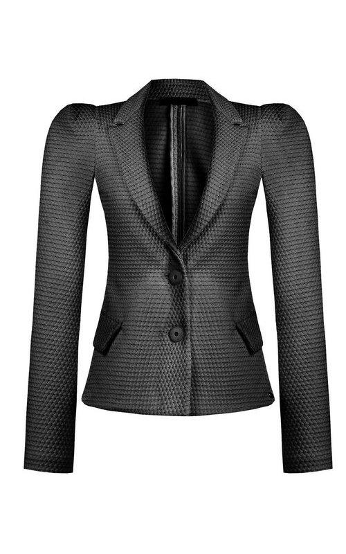 Приталенный пиджак черного цвета RINASCIMENTO 94243