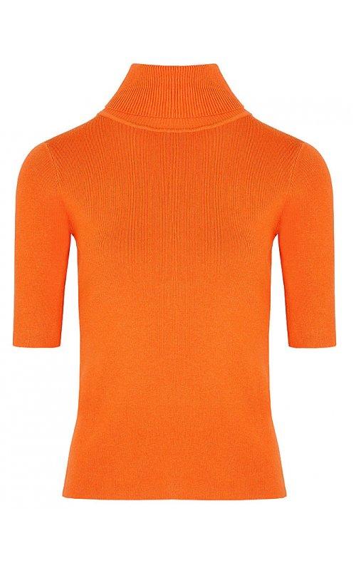 Джемпер с коротким рукавом оранжевого цвета Anna Pepe AP 5252