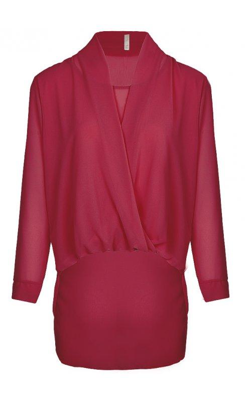 Блузка на запах бордового цвета Anna Pepe AP 10497