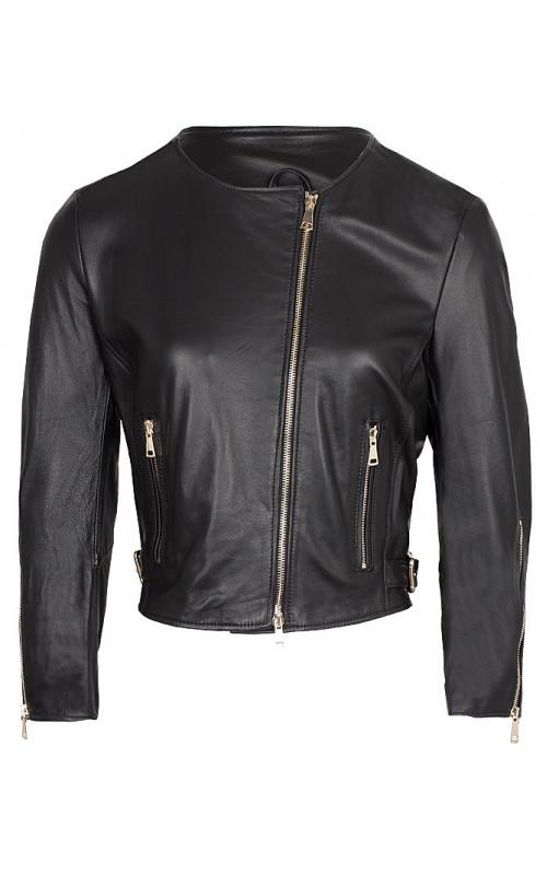 Черная кожаная куртка IMPERIAL V3025263