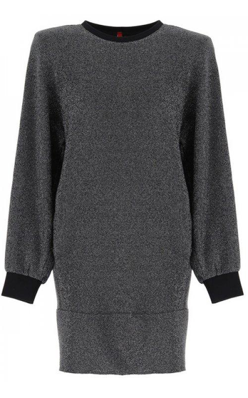 Трикотажное платье серого цвета IMPERIAL A9RXYIR