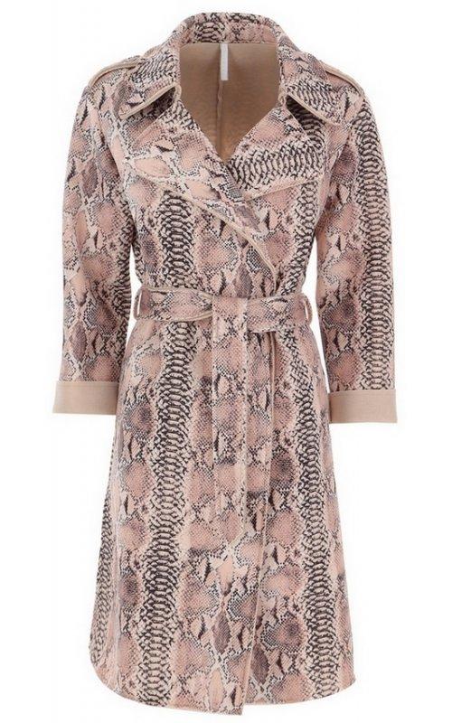 Розовое пальто со змеиным принтом IMPERIAL KG09XJY