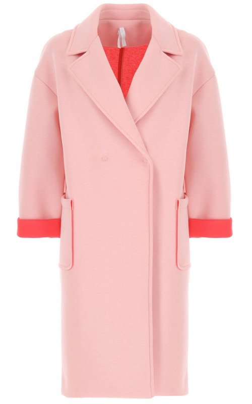 Розовое пальто с коралловыми вставками IMPERIAL KF77XIL