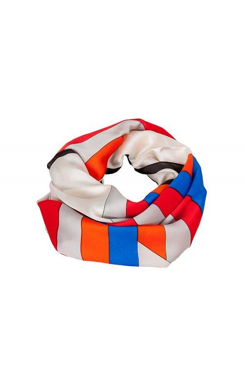 Оранжевый платок с принтом Anna Pepe AP 2420