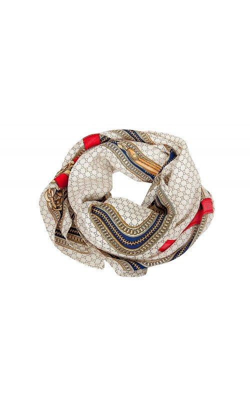 Бежевый платок с принтом Anna Pepe AP 2158
