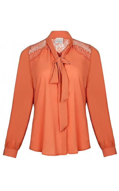 Оранжевая блуза с кружевом RINASCIMENTO 92000