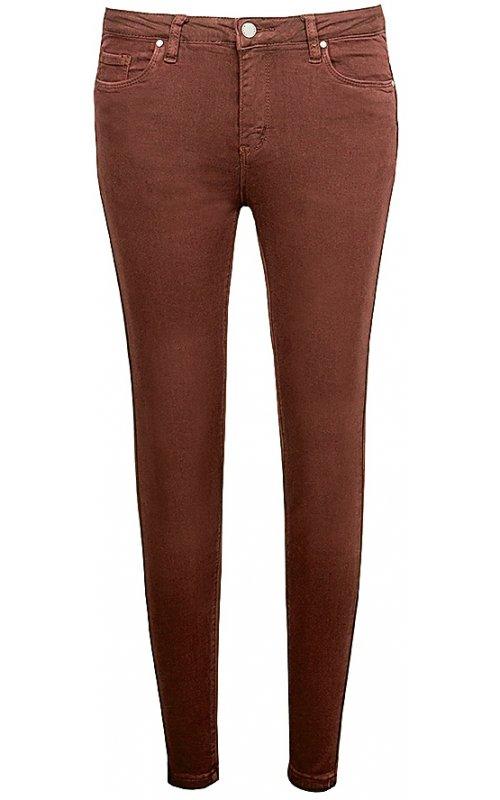 Узкие женские джинсы рыжего цвета Anna Pepe AP 1234