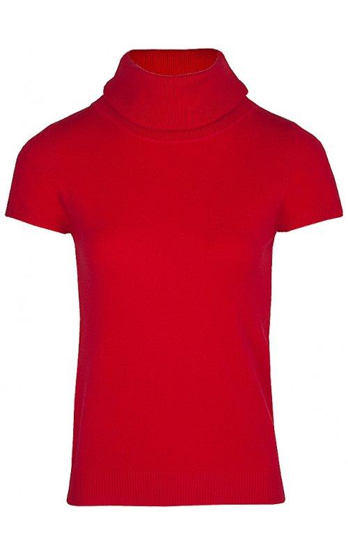 Красный джемпер с коротким рукавом Anna Pepe AP 2110