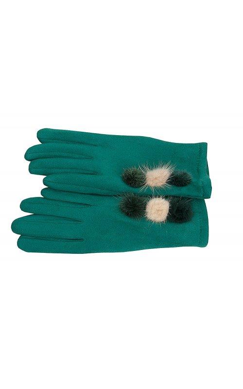 Зеленые женские перчатки Anna Pepe AP 769