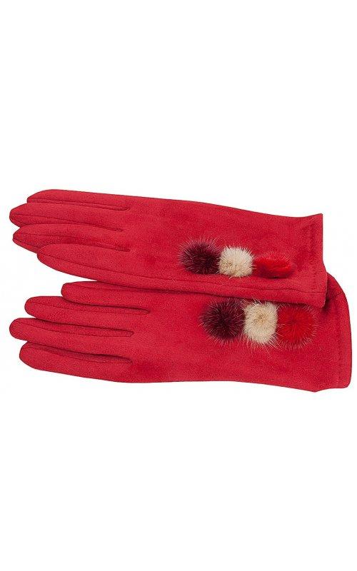 Красные женские перчатки Anna Pepe AP 769