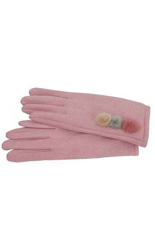 Розовые женские перчатки Anna Pepe AP 769