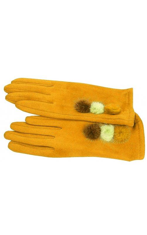 Желтые женские перчатки Anna Pepe AP 769