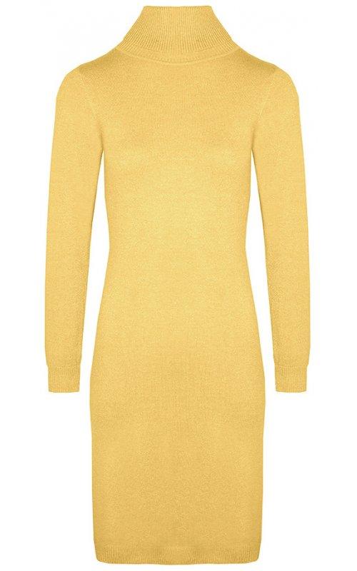 Желтое платье-гольф с люрексом Anna Pepe AP 8215