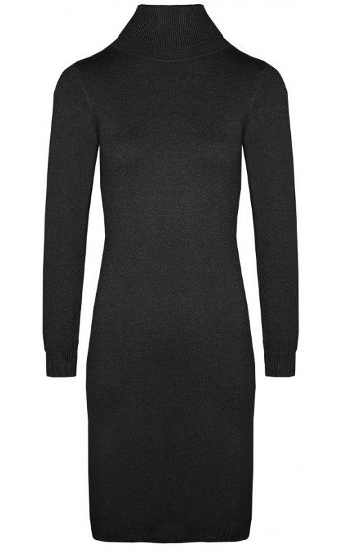 Черное платье-гольф с люрексом Anna Pepe AP 8215