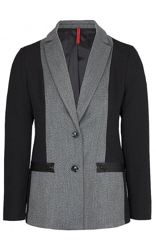 Стильный серый пиджак с черными вставками IMPERIAL J9990038I