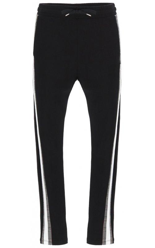 Черные брюки с белыми вставками IMPERIAL P1J1YPQ