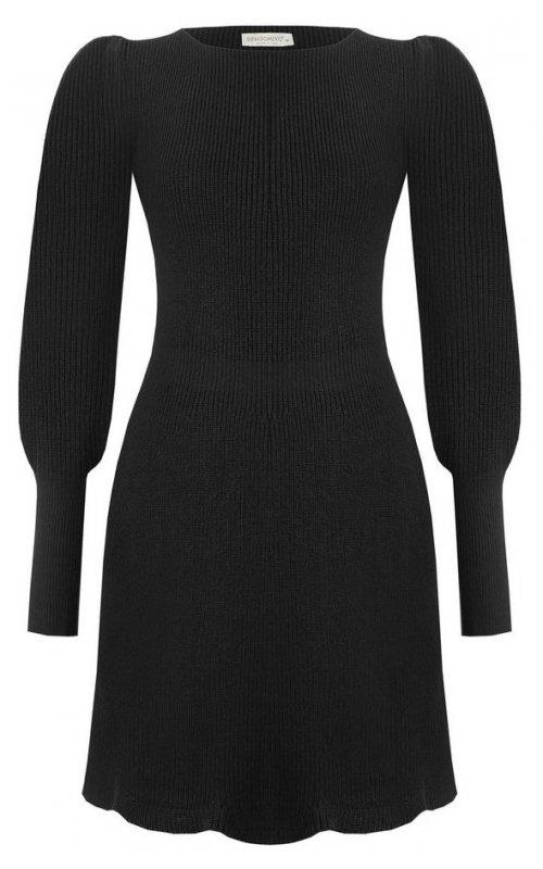 Черное платье с широким манжетом RINASCIMENTO 9259
