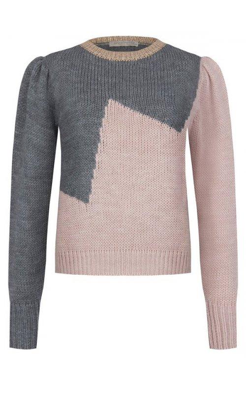 Серый джемпер с розовыми вставками RINASCIMENTO 9385