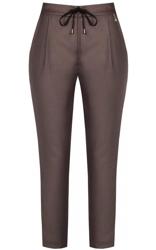 Коричневые брюки со шнурком на поясе RINASCIMENTO 94001