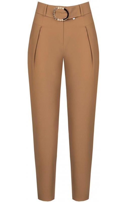 Бежевые брюки с поясом RINASCIMENTO 95521