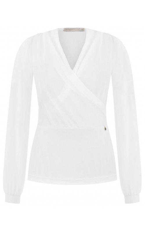 Белая блуза на запах RINASCIMENTO 96001