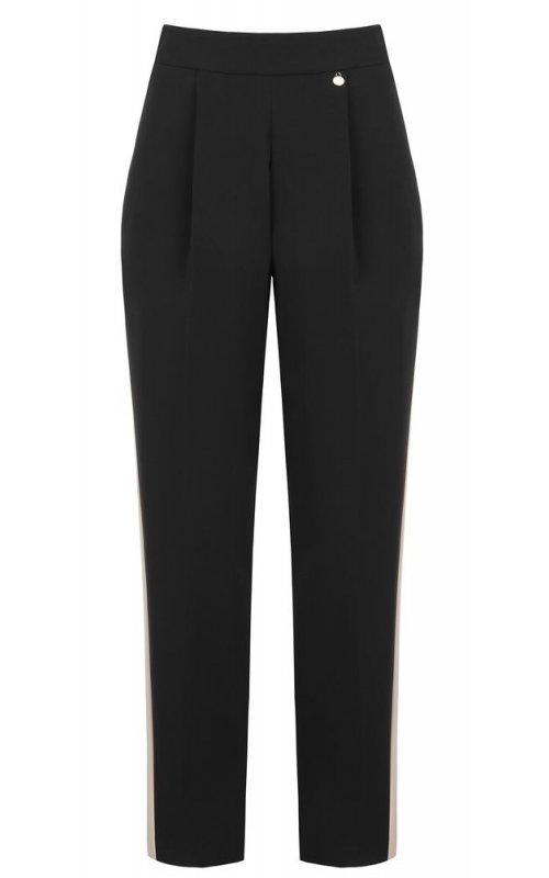 Черные брюки с контрастными вставками RINASCIMENTO 88428
