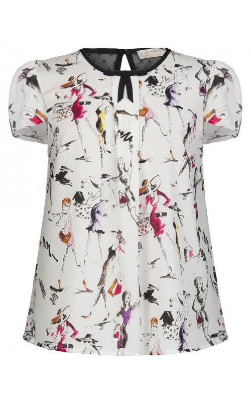 Белая блуза с принтом RINASCIMENTO 91492