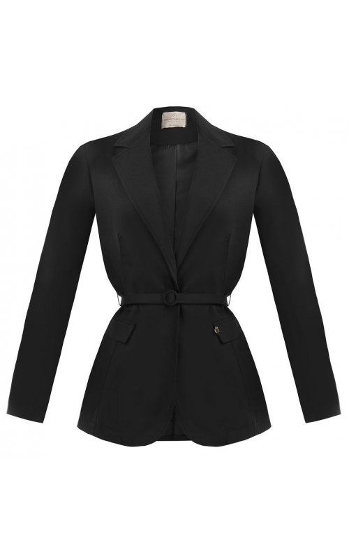 Черный пиджак с поясом RINASCIMENTO 92226