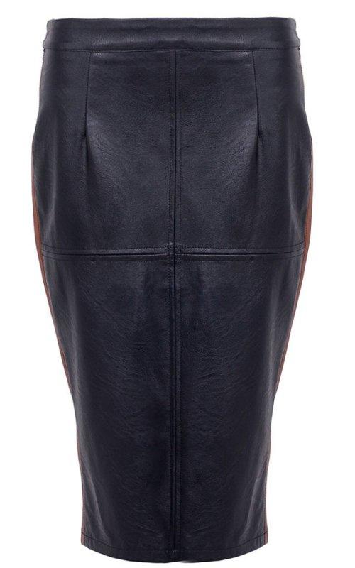 Черная юбка с контрастными вставками RINASCIMENTO 88138