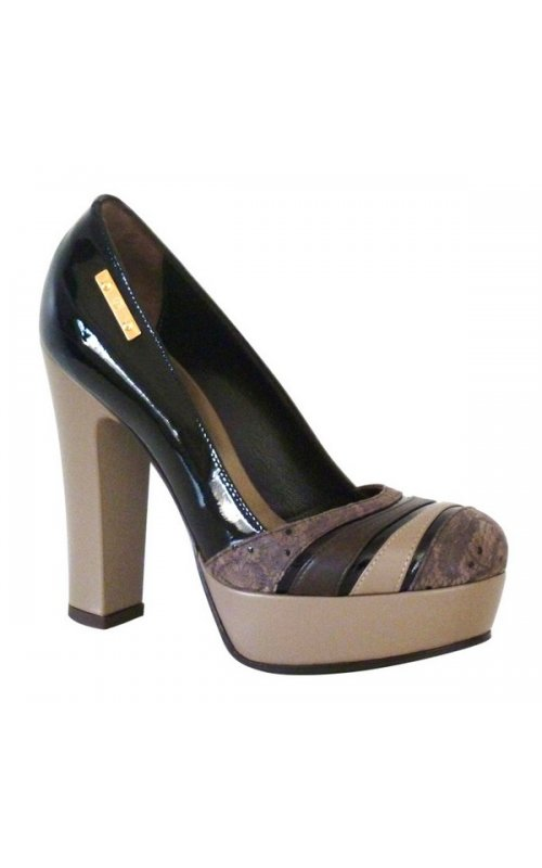 Кожаные туфли Gilda Tonelli 4317 MULTICOLOR (pium TDM nappa taupe)